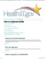 Overview of Steps - Get started! Here are the EHR Implementation Steps _ Providers & Professionals _