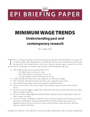 Minimum Wage Trends