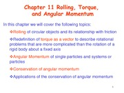 Chapter11 Rolling Torque and Angular Momentum