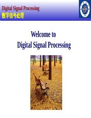 2014-Chapter 0-new Digital signal processing introductiion