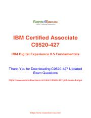 IBM C9520-427 updated exam material.pdf