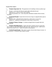 Economic Notes Chapter 2
