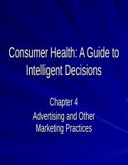 Consumer Health-Chap.4-new-abbreviated.ppt