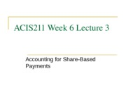 6.3 ACIS211_Week_6_Lecture_3_Share_based_payments