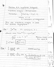 Indefinite integrals notes