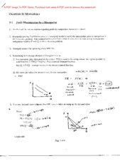 Econ 3070 Chapter 11 Notes