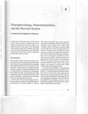 Neurophysiology, Neurotransmission and the Nervous System