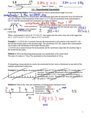 Sig Figs and Expt Uncertainty - A
