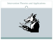 Intervention Theories and Applications