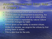 Aristotle Nicomachean Ethics Book II Chapters 1-6