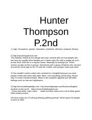 Hunter Thompson Project 1.docx