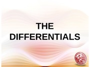 _Lesson 15_The Differentials & Parametric Equations