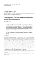 Nayyar, Deepak - Globalization, History and Development - A Tale of Two Centuries