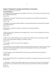 Chapter 1 Managerial Accounting and the Business Environment TB(40)