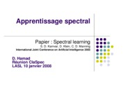2008 - Apprentissage spectral