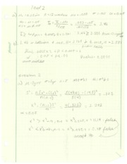 Take Home Exam 2 Sample Solutions