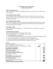 Econ handout National Income