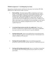 FIN3250 Assignment 3 - Cash Budgeting.docx