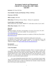 Syllabus for Investment Analysis and Management_MGMT 471_001_Fall 2015(3)