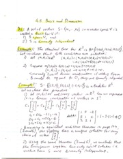4.5 Basis and Dimension