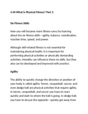 4.04 what is physical fitness part 2