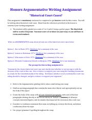 HONORS Writing Assignment- Historical Court Cases.doc