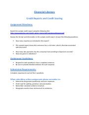 credit reports and credit scoring.docx