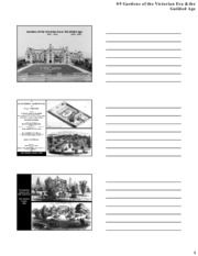 09 Gardens of the Victorian Period & Gilded Age - Notes