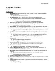 Chemistry Chapter 15 Notes