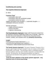 PS251 cognitive behavioral approach class notes