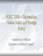 POSC 2200 - Nationalism and States in the International System.ppt