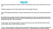 The format of the test (1)