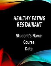 Healthy Eating Restaurant.ppt