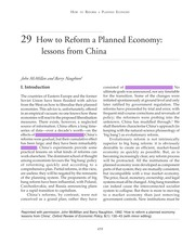 Naughton How to Reform a Planned Economy