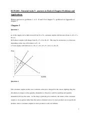 Tutorial week 5 answers ~ Economic Efficiency, Government Price Setting and Taxes.pdf