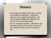 Distance and Functions PP