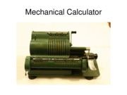 MechanicalCalculator