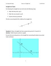 6.1 - STRAIGHT LINES AND ITS DIFF FORMS