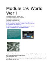 Module 19_ World War I.docx