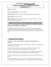 World Regional Article Worksheet (North America_USA).docx