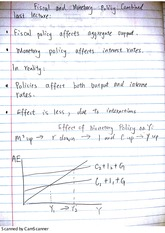 fiscal and monetary policy notes
