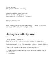 Movie Review-Avangers.docx