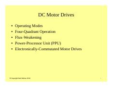 #12 DC Motor Operating Modes
