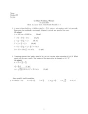 In-class problems 2 Solutions