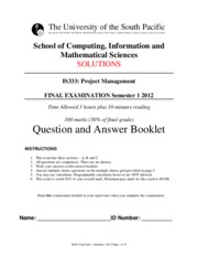 Solution Answer paper IS333 S12012 Final