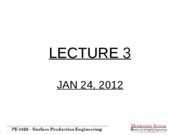 Lecture 3 - Jan 24 2012