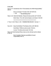 PHI 107 Revised Readings - Free Will  F13