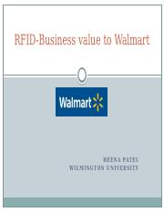 RFID-Business value to Walmart