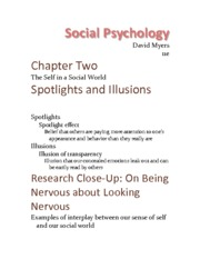 Chapter 2 - The Self In A Social World