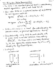 ENSC 805 Singular Value Decomposition Notes